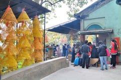 A Ma Temple Burning incense Stock Photos