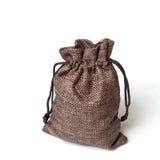 Mała torba jutowa Zdjęcia Stock