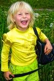 mała torby dziewczyna obrazy stock