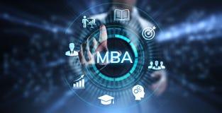 Ma?tre de MBA de concept d'?ducation de gestion images libres de droits