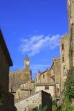 Mała Tuscany wioska Obrazy Royalty Free
