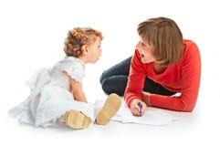 MA und Kind Stockfotos