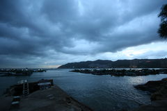 Ma Wan Pier of Hong Kong Royalty Free Stock Photo