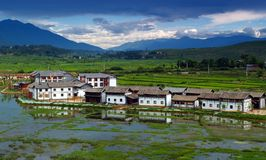 mała wioska chiny Zdjęcia Royalty Free