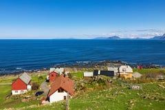 Mała wioska morzem Obrazy Stock