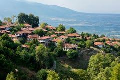 Mała wioska, Olympus góra, Grecja Fotografia Royalty Free