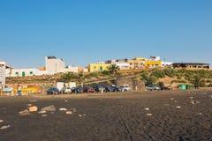 Mała wioska rybacka Ajuy na Fuerteventura wyspie, Hiszpania Zdjęcia Stock