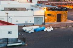 Mała wioska rybacka Ajuy na Fuerteventura wyspie, Hiszpania Zdjęcia Royalty Free