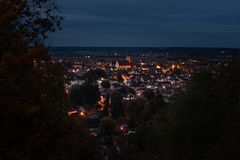 Mała wioska w Bavaria Niemcy Mindelheim zdjęcia royalty free