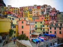 Mała wioska z kolorowymi domami obrazy stock