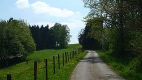 Mała wioski droga Zdjęcia Stock