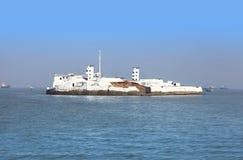 Mała wyspa w Arabskim morzu Fotografia Royalty Free