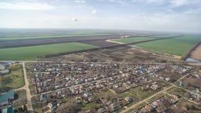 Mały agrarny miasto, Stavropol Krai Fotografia Stock
