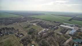 Mały agrarny miasto, Stavropol Krai Obrazy Royalty Free