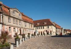 Mały antyczny miasteczko Kuldiga, Latvia Obrazy Stock