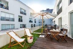 Mały balkon w kompleksie apartamentów Obraz Royalty Free