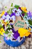 Mały bukiet wiosna kwiaty Zdjęcie Stock