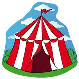 Mały cyrkowy namiot Zdjęcia Royalty Free