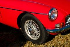 Mały czerwony samochód - rocznik Obrazy Royalty Free