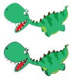 mały Dino bieg Obrazy Royalty Free