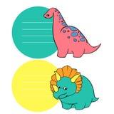 Mały Dino set ilustracja wektor