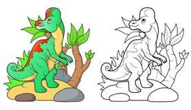 Mały dinosaura odprowadzenie Obraz Royalty Free