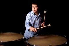 Mały dobosz z drumsticks Zdjęcie Stock