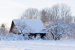 mały domek na wsi Obrazy Royalty Free