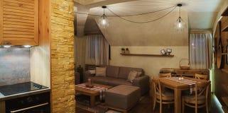 Mały Drewniany mieszkanie fotografia royalty free