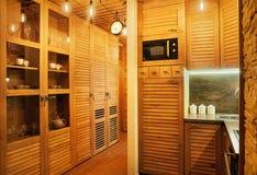 Mały Drewniany mieszkanie obraz stock