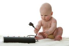 mały dziecko cukierki Zdjęcia Stock