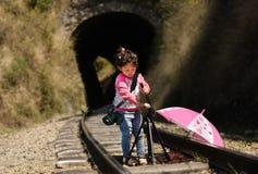 mały dziewczyna fotograf Obrazy Stock