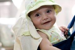 mały dziewczyna kapelusz zdjęcie royalty free