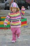mały dziewczyny boisko Fotografia Royalty Free