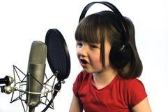 mały dziewczyny nagranie Obraz Royalty Free