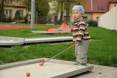 Mały golfista Zdjęcie Royalty Free
