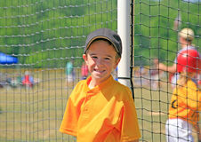 mały gracz baseballu Fotografia Royalty Free