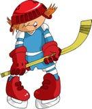 Mały gracz w hokeja Zdjęcia Stock