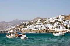 Mały Grecki miasteczko Obrazy Royalty Free