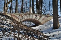 Mały groteskowy zwyczajny most w dziejowym muzeum Zdjęcia Stock