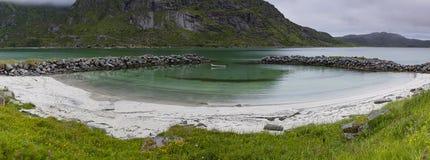 Mały intymny Lofoten Marina Fotografia Stock