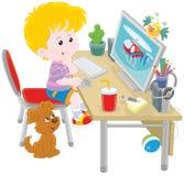 Mały komputerowy gamer Zdjęcie Royalty Free