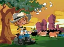 Mały kowboj ilustracji