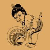 Mały Krishna Zdjęcia Royalty Free