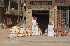 mały manufaktury egipski garncarstwo Zdjęcia Stock