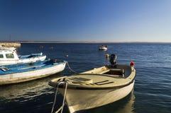 Mały marina w Adriatic morzu Zdjęcia Royalty Free