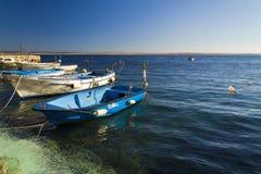 Mały marina w Adriatic morzu Zdjęcie Stock
