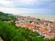 Mały miasteczko na morzu Obraz Stock
