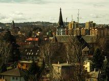 Mały miasto krajobraz Obrazy Stock