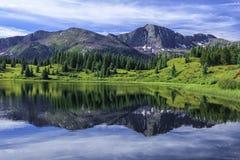 Mały Molas jezioro, San Juan góry, Kolorado Obrazy Royalty Free
